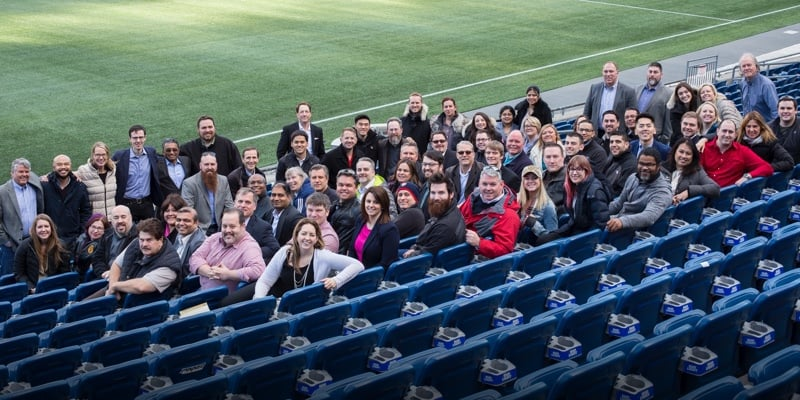 Group photo of Acorio team at annual summit