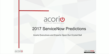 Cover for the What to know about ServiceNow for 2017 webinar