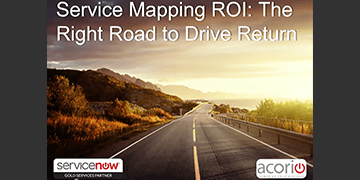 Cover for the Service Mapping ROI: The Right Road to Drive Return webinar