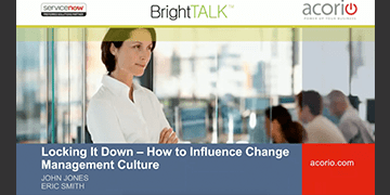 Cover for the Locking it Down - How to Influence Change Management Culture webinar