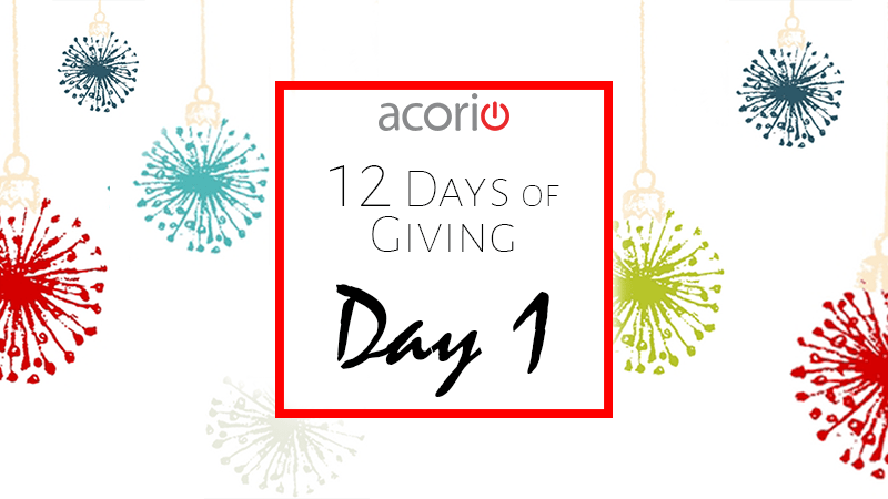 12 Days of Giving, Day 1