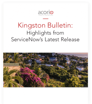 ServiceNow Kingston