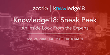 Knowledge18 Preview Webinar
