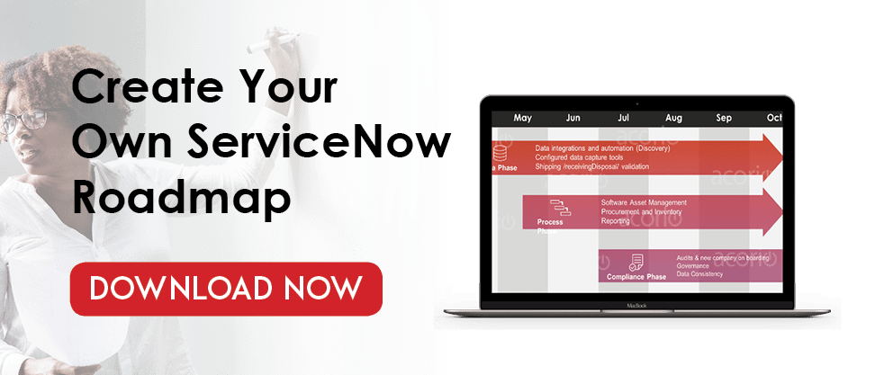 Create your ServiceNow roadmap CTA