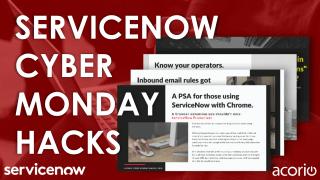 ServiceNow Hacks