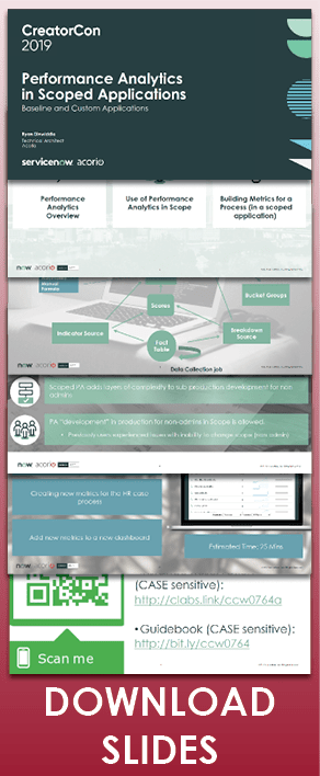Knowledge19 presentation performance analytics