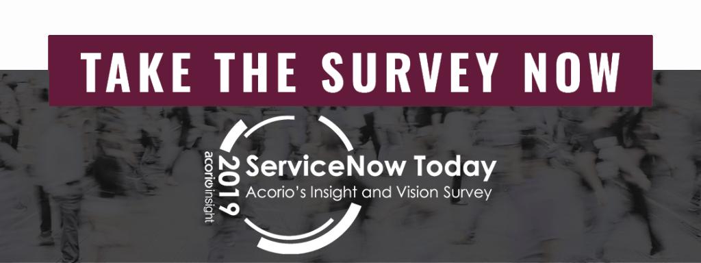 Acorio Insight & Vision Survey invite