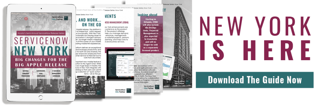 ServiceNow New York guide