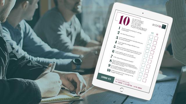 ServiceNow Roadmap Checklist on tablet