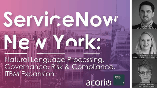 ServiceNow New York webinar cover slide