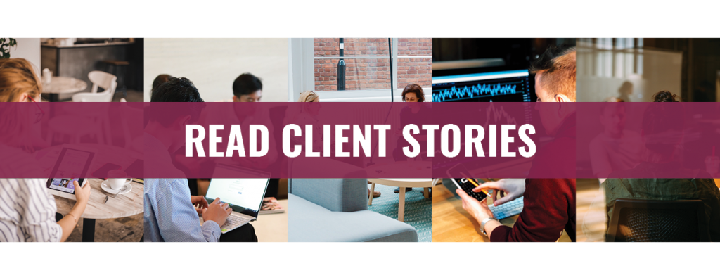 Read our Client Stories invite