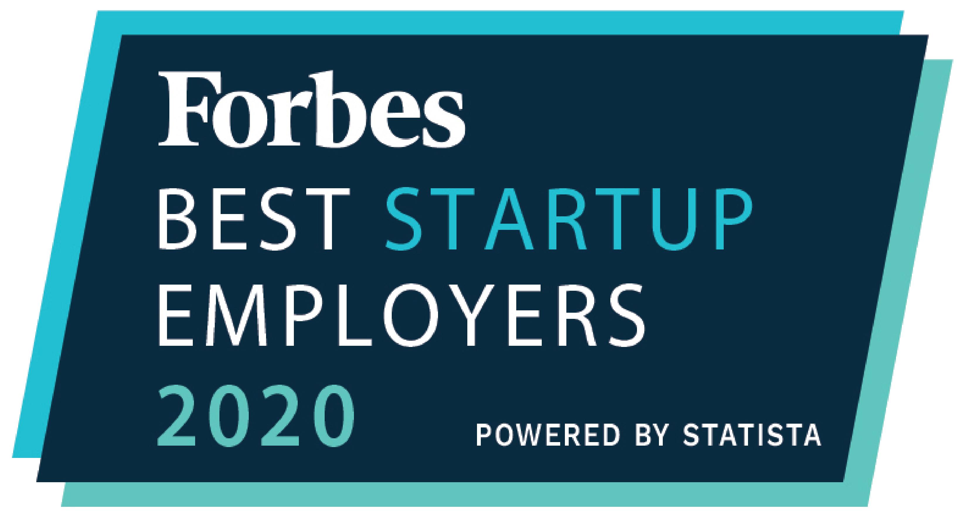 Forbes 2020 Best Startup Employers award logo Acorio