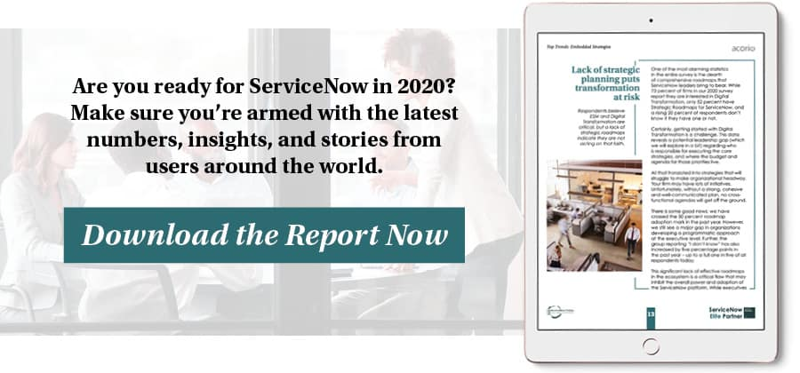 ServiceNow Insight Report eBook on tablet