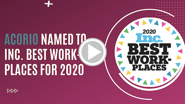 Acorio Inc Best Workplaces 2020 list video