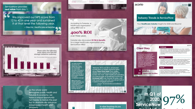 Healthcare industry trends deck preview