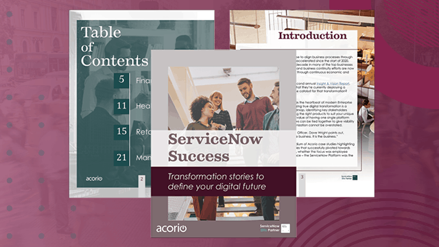 Servicenow Transformation stories eBook preview