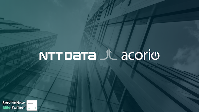 Acorio NTT Data Acquisition announcement banner