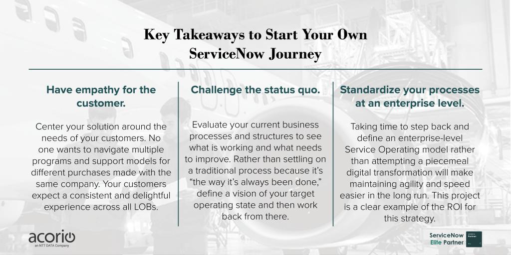 Key Takeaways Scalability with ServiceNow