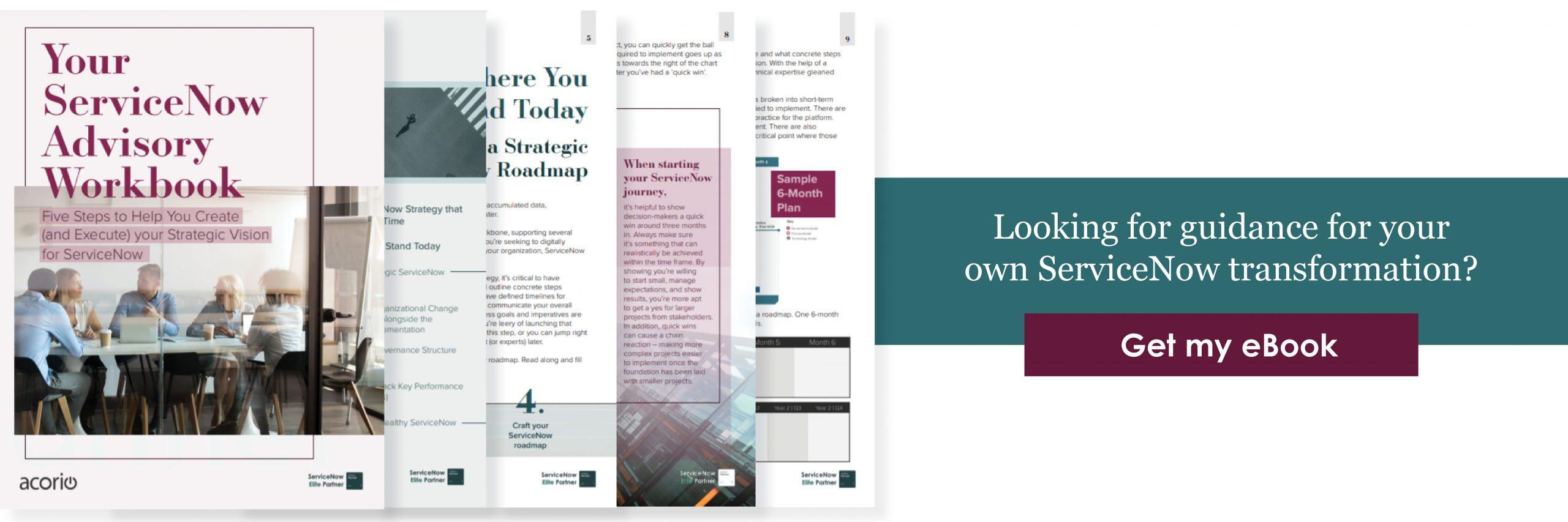 ServiceNow Advisory Workbook CTA